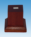 Picture of Wooden Base: 50mm Square Pedestal (Dark)