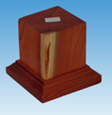Picture of Wooden Base: 45mm Square Pedestal (Light)