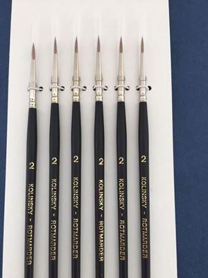 Kolinsky Sable Brush Set Size 2