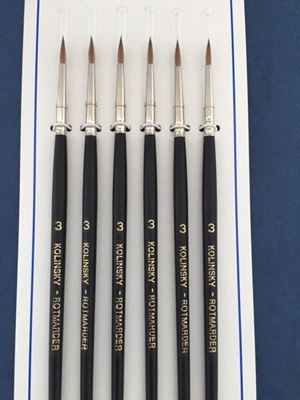Kolinsky Sable Brush Set Size 3